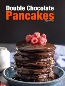 Double Chocolate Pancakes are very close to your favorite chocolate cake. Much easier and quicker! - giverecipe.com