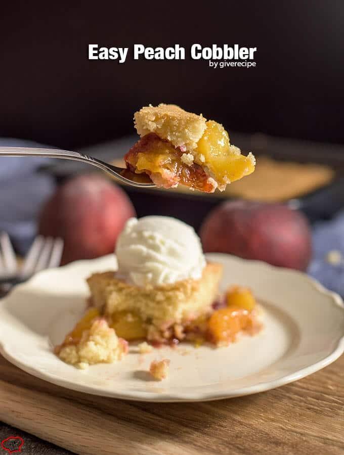 Easy Peach Cobbler - Give Recipe