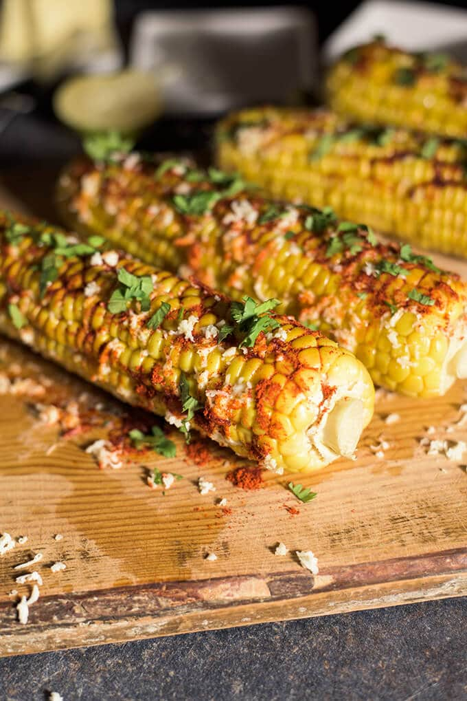 Mexican Corn on the Cob is the best summer snack around the world! Very messy and addicting! - giverecipe.com