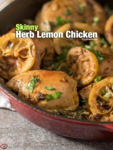 Skinny Herb Lemon Chicken