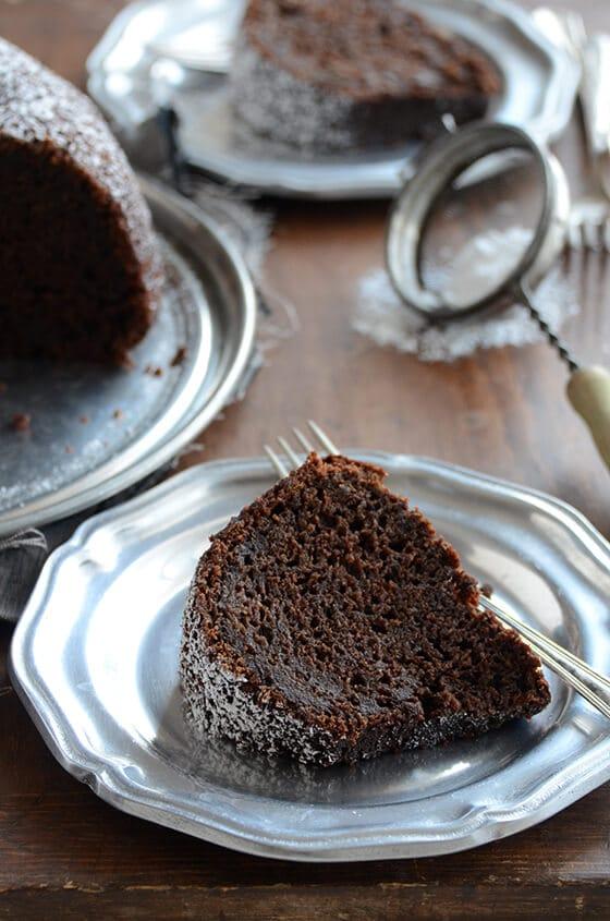 cinnamon orange spiced chocolate zucchini cake