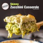 Skinny zucchini casserole baked in oven