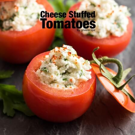 Cheese Stuffed Tomatoes. Simple yet the best appetizers! - giverecipe.com