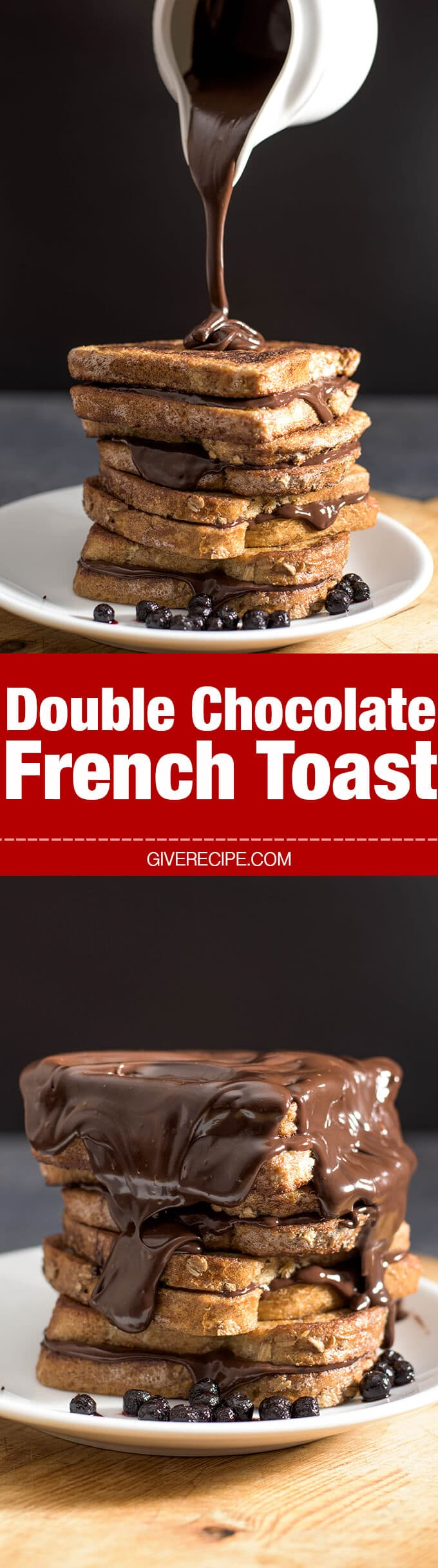 Best ever french toast sandwiched and covered with chocolate ganache ...