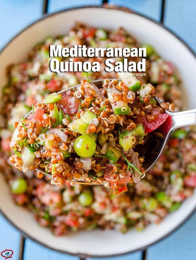 Mediterranean Quinoa Salad Give Recipe