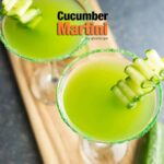 Cucumber martini flavored with fresh mint is the best drink to serve at summer parties! - giverecipe.com