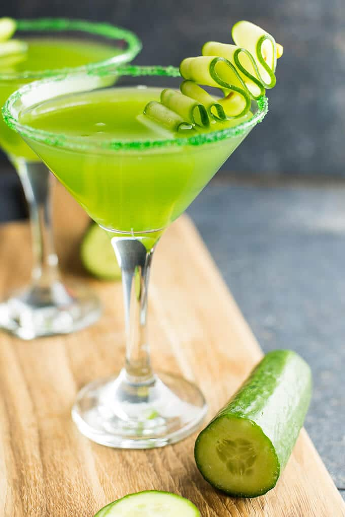 Cucumber martini give recipe for Cocktail martini