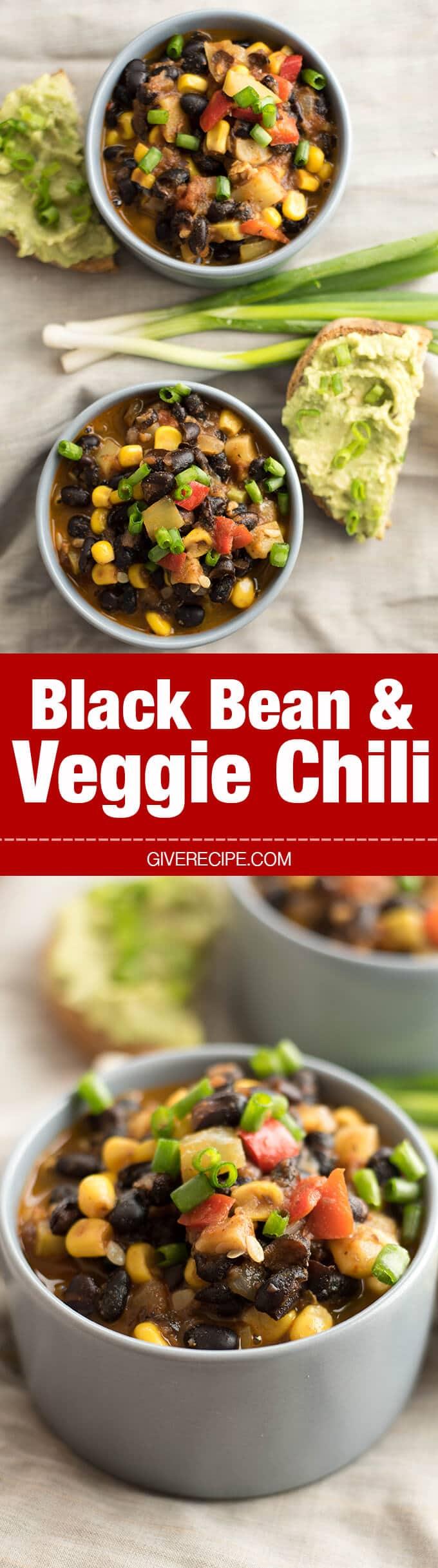 Black Bean and Veggie Chili a