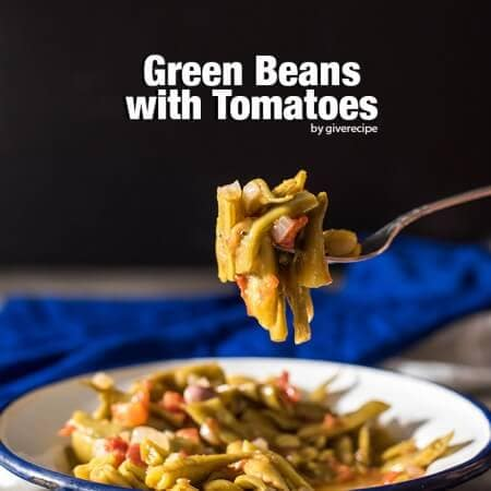 Green Beans with Tomatoes. Turkish/Greek style. An outstanding combination of simple ingredients. Ready in 30 min. Will be your ultimate side dish. - giverecipe.com