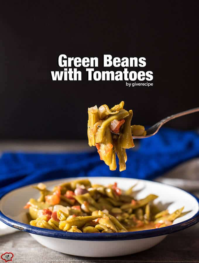 Braised Green Beans with Tomatoes. Turkish and Greek style. An outstanding combination of simple ingredients. Ready in 30 min. Will be your ultimate side dish. - giverecipe.com