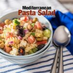 Pasta salad loaded with Mediterranean flavors. You will feel like summer never ends once you taste it! - giverecipe.com