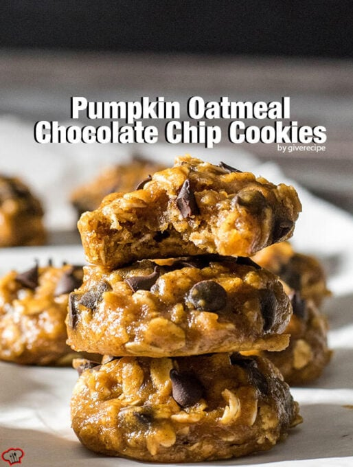 Pumpkin Oatmeal Chocolate Chip Cookies - Give Recipe