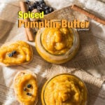 Spiced Pumpkin Butter is perfect for the fall season. Spread it on bread at breakfast or use it in cakes or cookies. Or just eat from the jar with a spoon as a dessert. - giverecipe.com