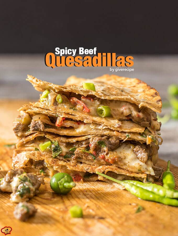 Spicy Beef Quesadillas