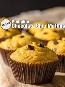 Vegan Pumpkin Chocolate Chip Muffins