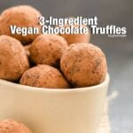 3 Ingredient Vegan Chocolate Truffles