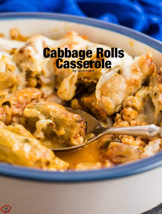 Cabbage Rolls Casserole is a perfect comforting recipe for chilly days. One of the casseroles that freezes well, so make sure you save some for the freezer. - giverecipe.com