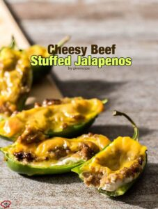 Cheesy Beef Stuffed Jalapenos