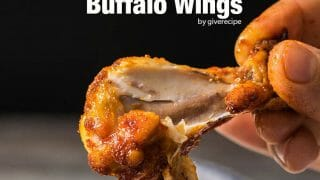 Crispy Buffalo Wings baked in oven. Very crispy thanks to a secret ingredient. You'll no longer want to fry them. - giverecipe.com