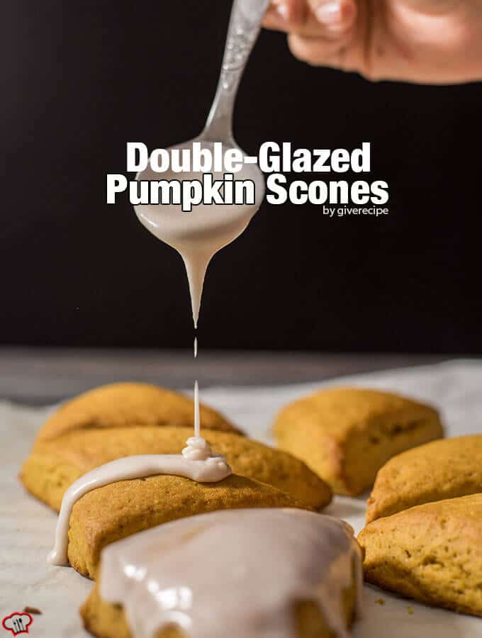 Double-Glazed Pumpkin Scones