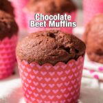 Chocolate Beet Muffins. Rich in fiber and antioxidants. Make these for your kids next morning! - giverecipe.com