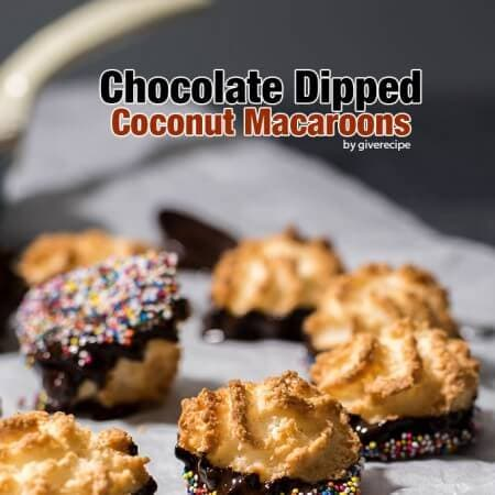 Chocolate Dipped Coconut Macaroons. Perfect gluten-free party treats that are for everyone.