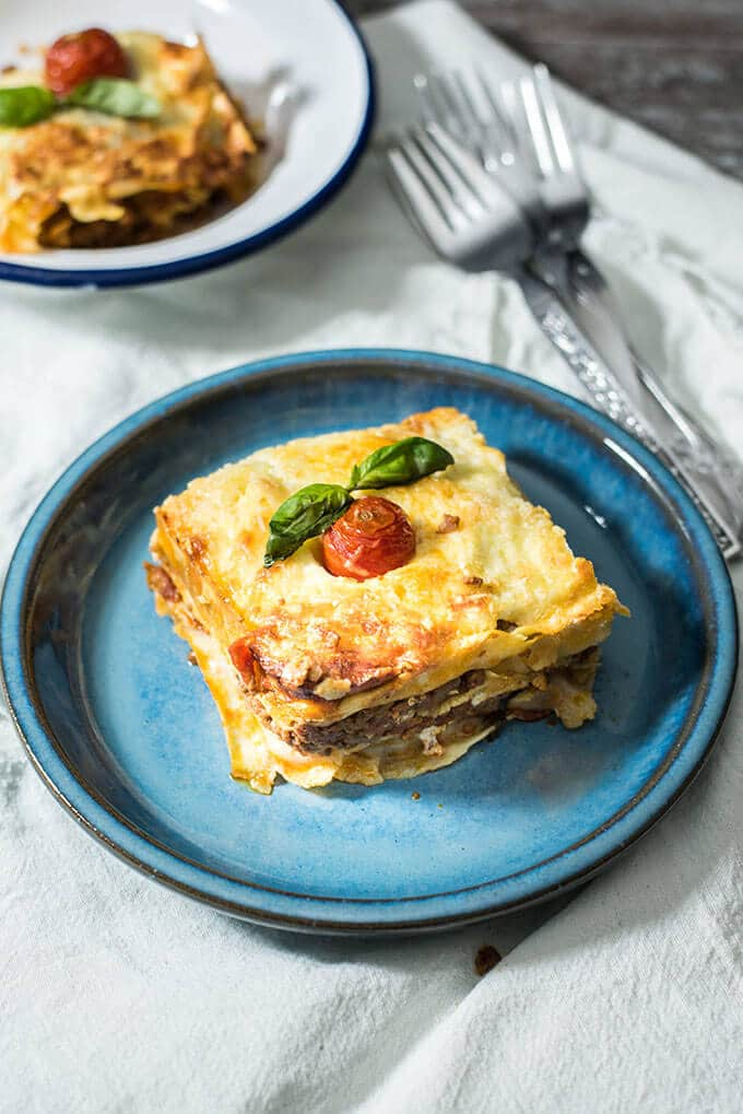 Classic Homemade Lasagna from scratch. This is the best crowd pleaser meal on any occasion!