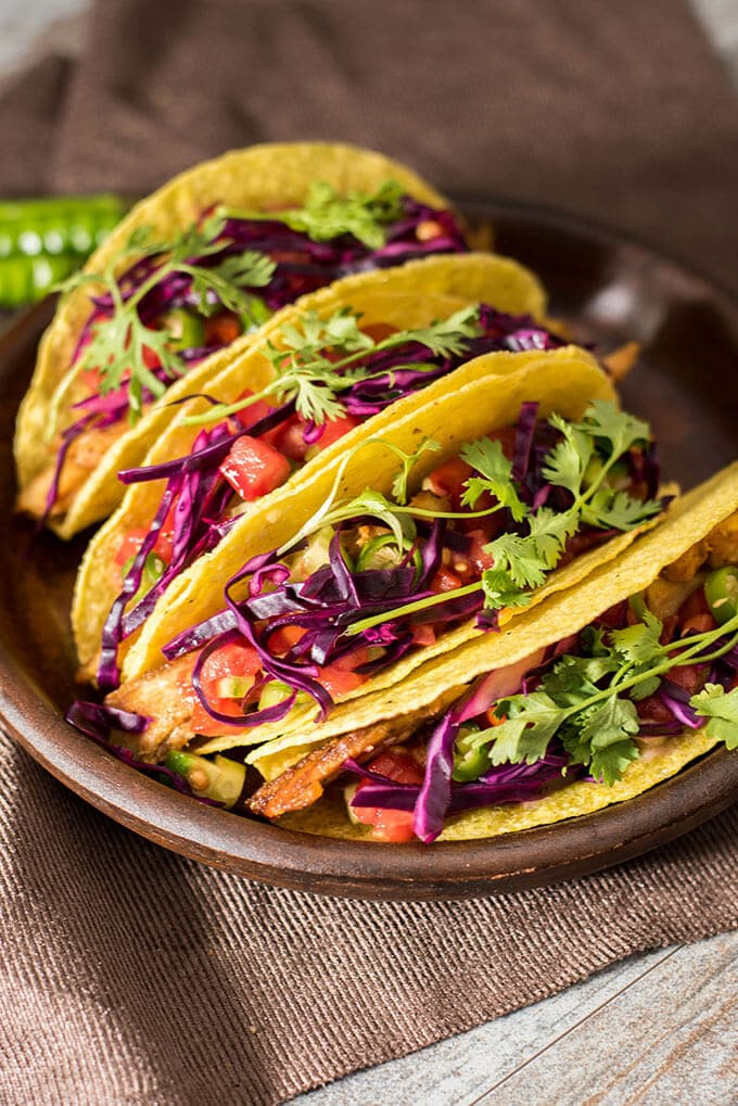 Fried Chicken Tacos. Super easy and tasty weeknight dinner ready in less than 30 minutes.