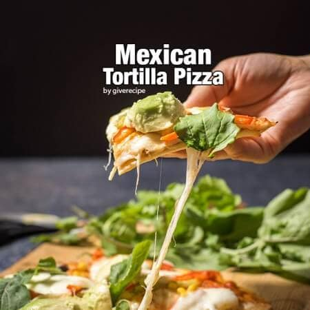 The easiest pizza ever. Made with two tortillas with a thin ground beef layer in the middle. Perfect for busy weeknights!