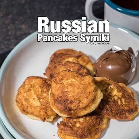 Russian Cheese Pancakes called syrniki. Yummiest pancakes ever! Crispy on the outside, creamy on the inside, these are my all time favorite!