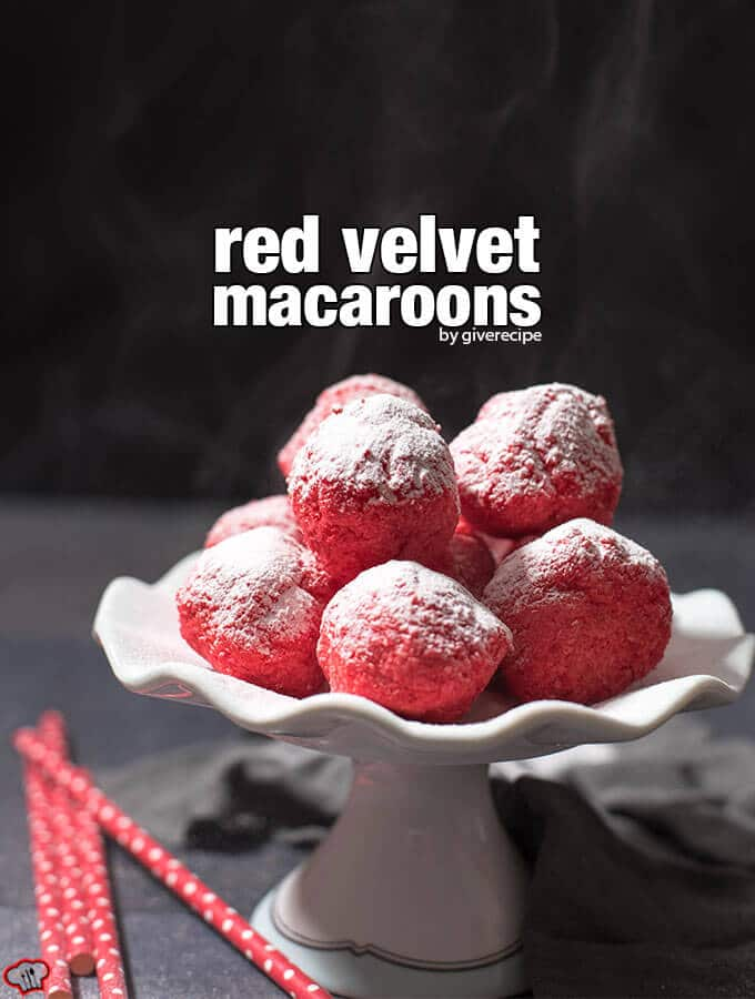 Red Velvet Macaroons. Perfect gluten-free treats for special days!