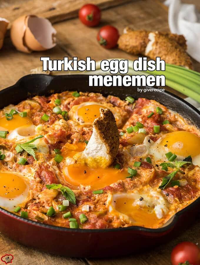Turkish Egg Dish Menemen