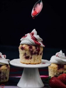 Greek Yogurt Strawberry Cupcakes