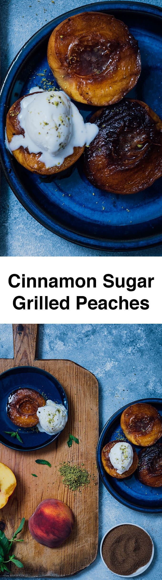Cinnamon Sugar Grilled Peaches are for those who don't feel like baking. You will be amazed with the taste when you have the first bite! Ready in 10 minutes!