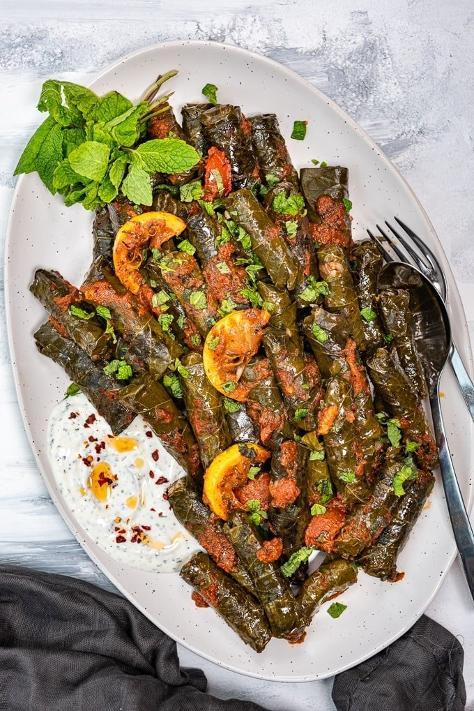 Stuffed Grape Leaves Recipe Yaprak Sarma Or Dolma Give Recipe
