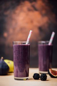 Blackberry Fig Kefir Smoothie