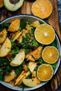 Black Bean Quinoa Salad with Apple and Orange