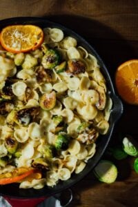 Cheesy Citrusy Brussels Sprouts Pasta