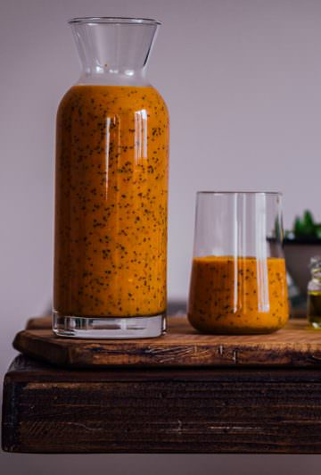 Turmeric Orange Poppy Seed Dressing