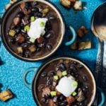 Spicy Black Bean Soup is really satisfying on its own, so you don't need anything else for dinner.