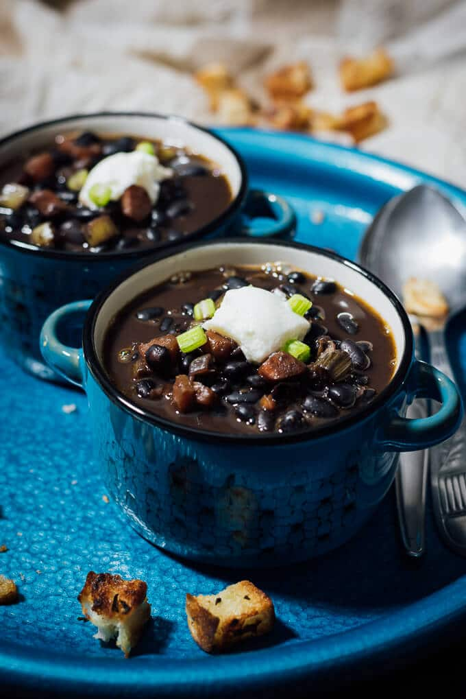 Spicy Black Bean Soup is really satisfying on its own, so you don't ...