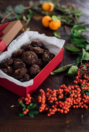 Molten Chocolate Citrus Cookies with melted chocolate and mandarin zest inside take you to heaven. They are slightly crispy on the outside and soft yet chewy on the inside. They disappear faster than you blink!