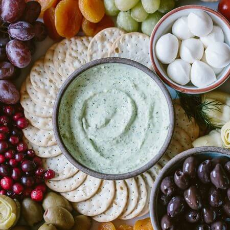 Whipped Feta with Herbs is a super quick dip that you can serve as an appetizer at holiday parties. Everyone will compete with each other to dip crackers into this scrumptious dip.