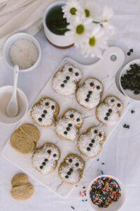 Coconut Snowmen Cookies