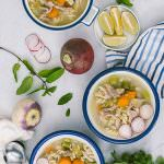 Winter Vegetable Chicken Noodle Soup is super hearty, healthy and easy to make. Packed with chicken, winter vegetables and noodles.