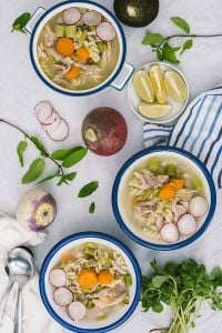 Winter Vegetable Chicken Noodle Soup