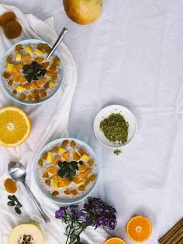 Warm Bulgur Breakfast Bowls with cinnamon, honey and winter fruit will be a good surprise to your family. You'll want to change your regular oatmeal bowls with this one.
