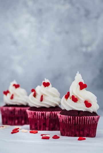 Super Moist Red Velvet Cupcakes recipe gives the best result you desire thanks to oil and kefir. Top them with a classic buttercream frosting and have the best bakery-style red velvet cupcakes for any special day.