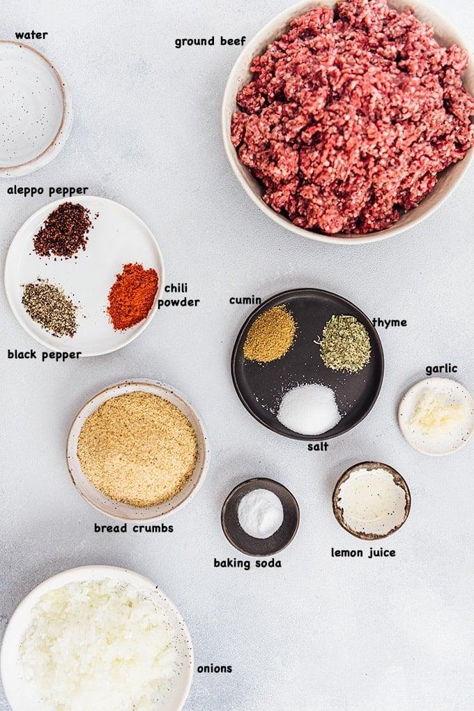 Kofte recipe ingredients