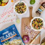 Healthy Baked Tilapia with Black Bean Salsa is a flavorful, quick and effortless recipe that is perfect both for busy weeknights and for summer occasions.